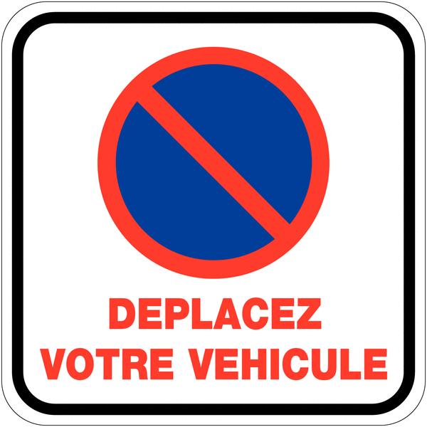 Rouleau d'étiquettes dissuasives Stationnement interdit - Déplacez votre véhicule