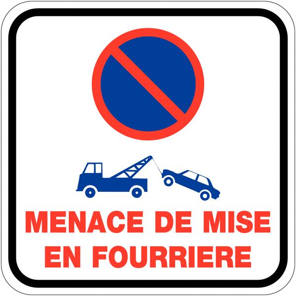Rouleau d'étiquettes dissuasives Stationnement interdit - Mise en fourrière