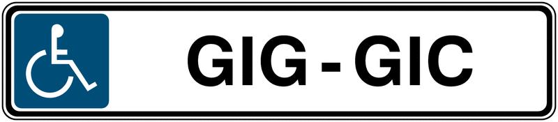 Panneau de parking avec poteau Handicapés - Gig-Gic