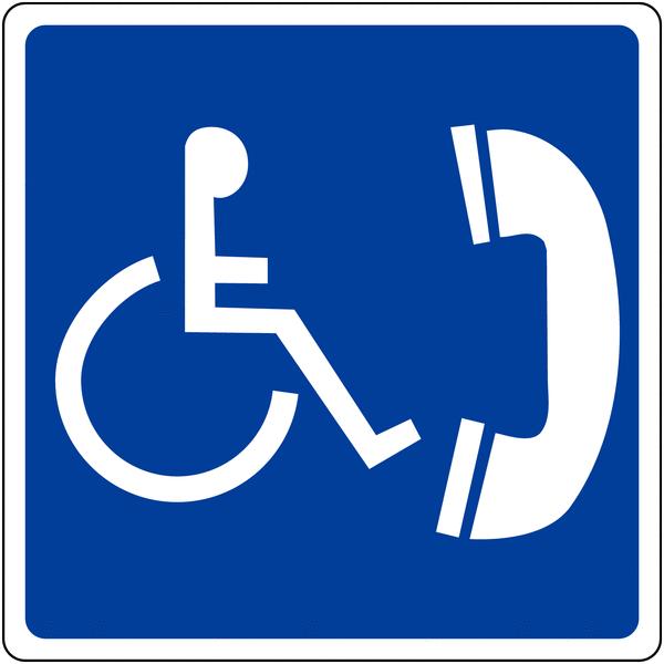 Panneau mural Téléphone accessible aux handicapés