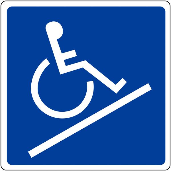 Panneau mural Rampe d'accessibilité handicapés