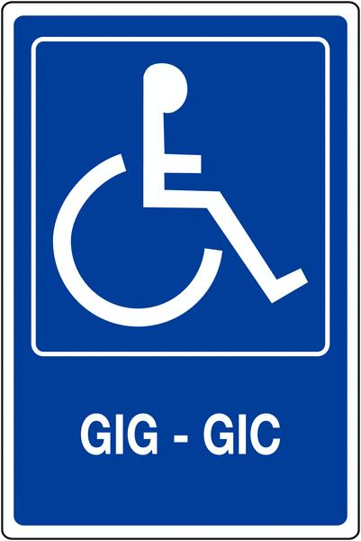 Panneau mural Handicapés - GIG - GIC