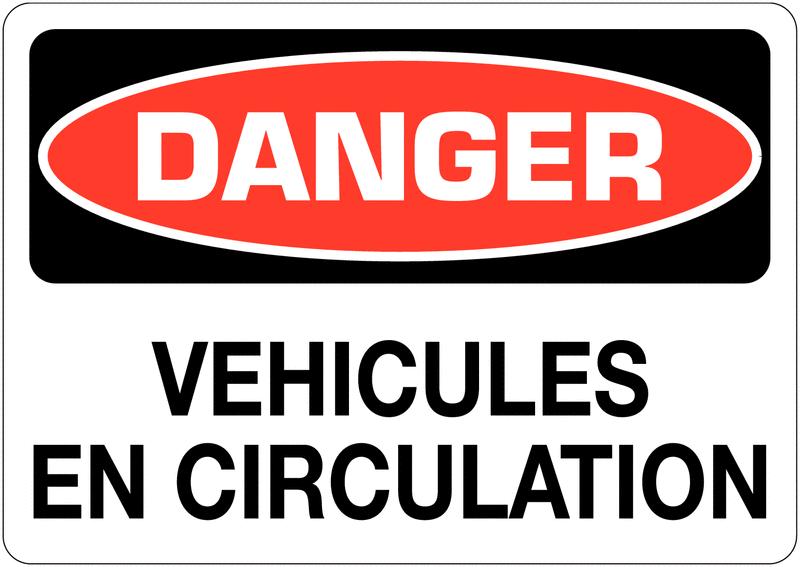 Signalisation d'avertissement Danger - Véhicules en circulation