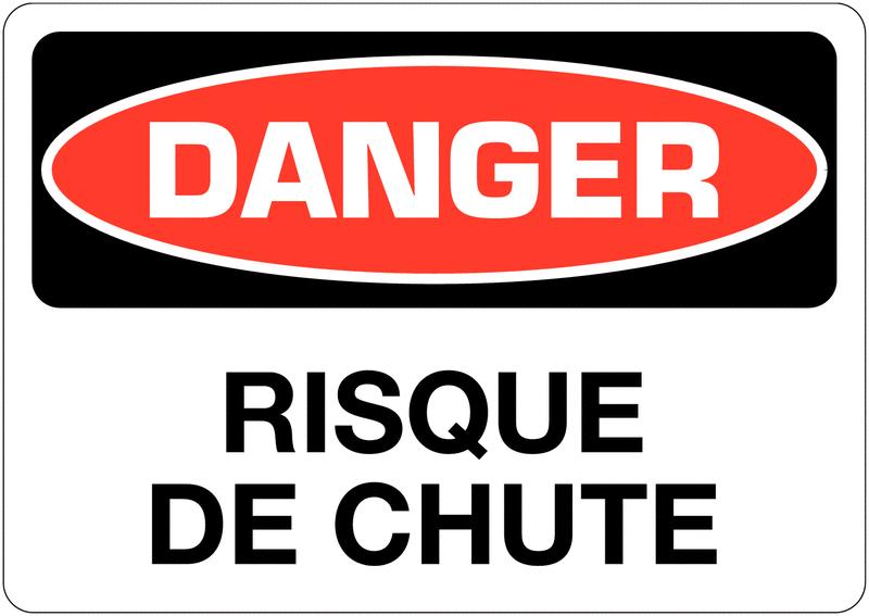 Signalisation d'avertissement Danger - Risque de chute