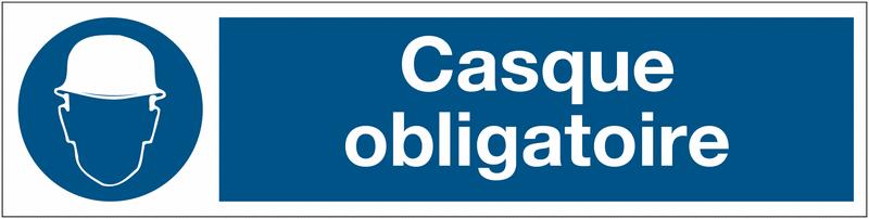 Panneau PVC adhésif - Casque obligatoire