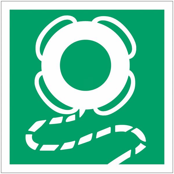 Panneau de sauvetage Bouée de sauvetage avec cordage flottant