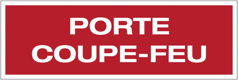 Panneau PVC adhésif - Porte coupe-feu