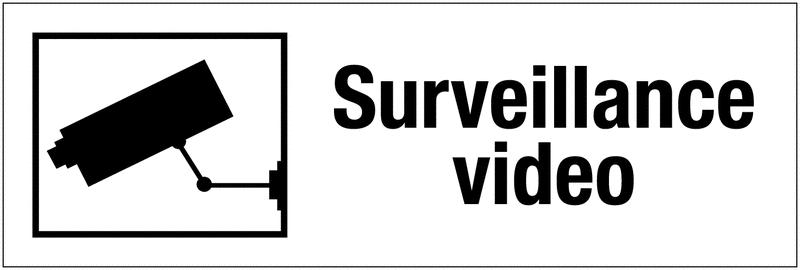 Panneau PVC adhésif - Surveillance vidéo