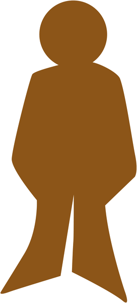Plaque de porte en bois symbole Toilettes homme