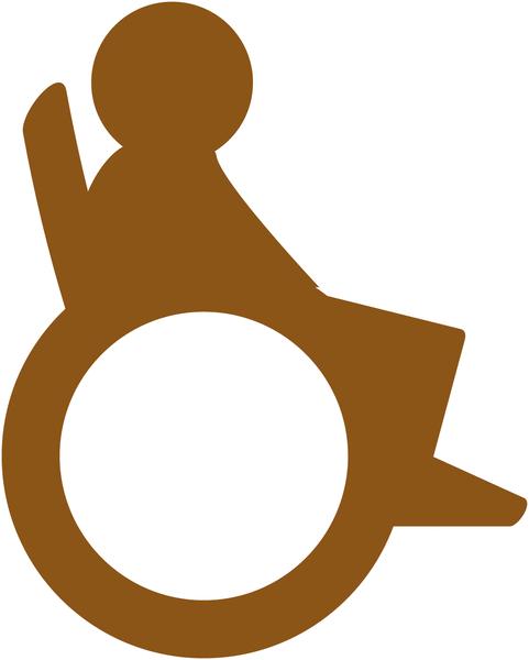 Plaque de porte en bois symbole Handicapés