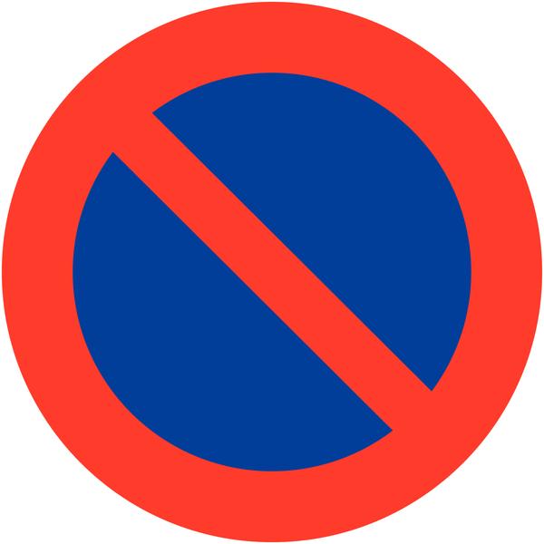 Panneau de signalisation temporaire en aluminium Stationnement interdit