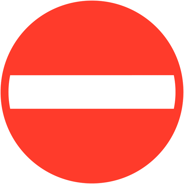 Panneau de signalisation temporaire en aluminium Sens interdit