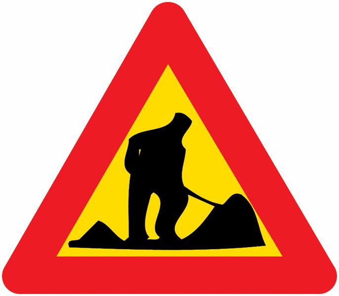 Panneau de signalisation temporaire en aluminium Travaux