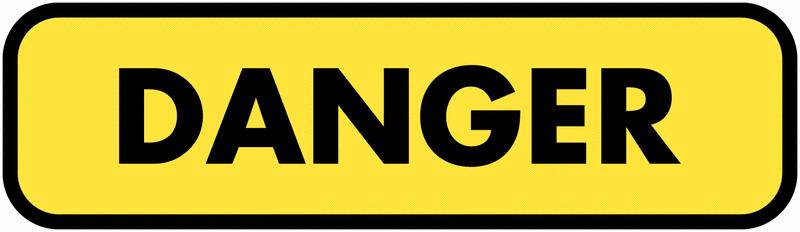 Panonceau de signalisation temporaire complémentaire - Danger