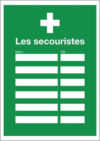 Affichage obligatoire Premiers secours - Les secouristes