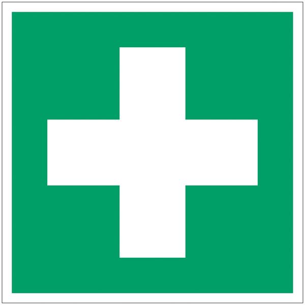 Panneau d'évacuation en polycarbonate Premiers secours
