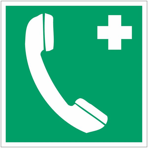 Panneau d'évacuation en polycarbonate Téléphone d'urgence