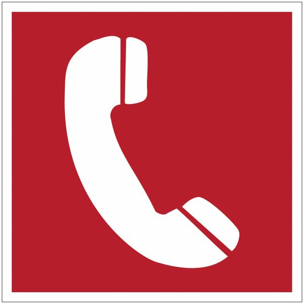 Panneau d'incendie en polycarbonate Téléphone à utiliser en cas d'incendie