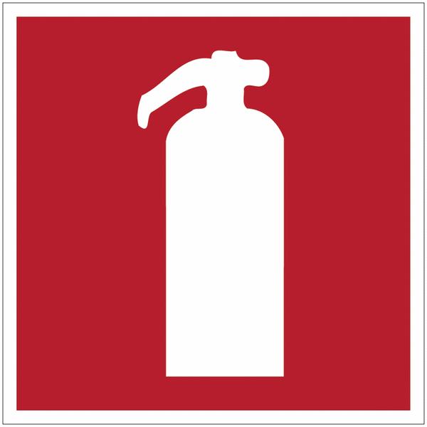 Panneau d'incendie en polycarbonate Extincteur d'incendie