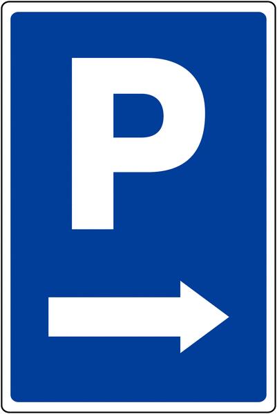 Panneau de parking temporaire Parking flèche à droite