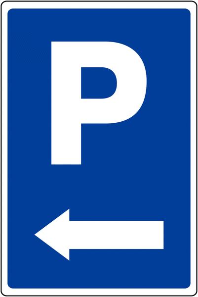 Panneau de parking temporaire Parking flèche à gauche