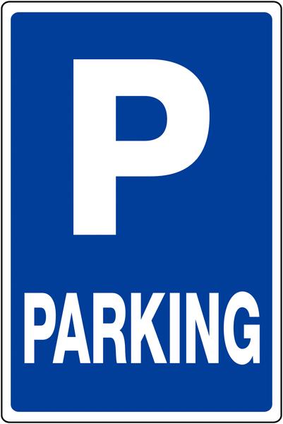 Panneau de parking temporaire Places de parking avec texte Parking