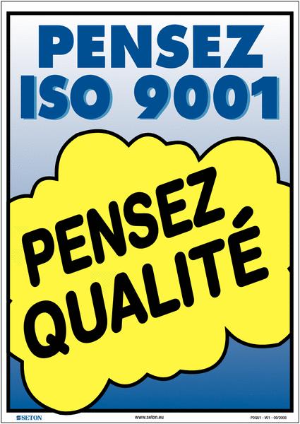 Poster de Qualité A3 - Pensez ISO 9001