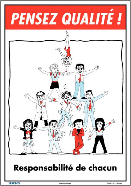 Poster de Qualité A3 - Responsabilité de chacun