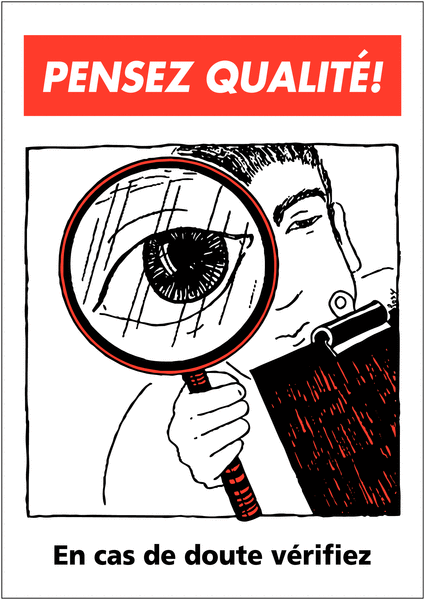 Poster de Qualité A3 - En cas de doute vérifiez