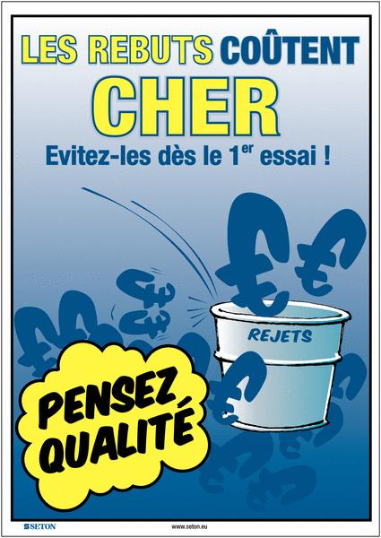 Poster de Qualité A3 - Les rebuts coûtent cher