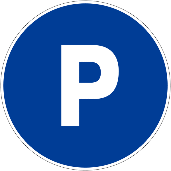 Panneau de parking rond Places de parking