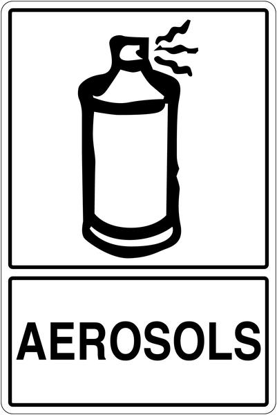 Panneau déchets spéciaux  Tri sélectif des déchets - Aérosols