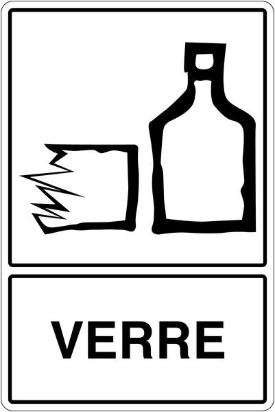Panneau déchets spéciaux  Tri sélectif des déchets - Verre