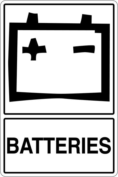 Panneau déchets spéciaux  Tri sélectif des déchets - Batteries