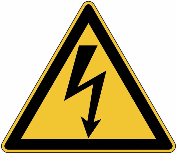 Panneau de danger en aluminium Danger électricité