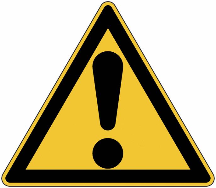 Panneau de danger en aluminium Danger général
