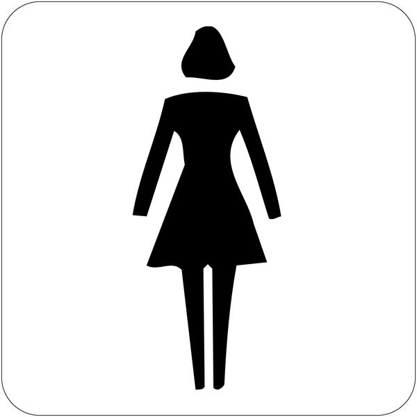 Signalisation d'information prestige Toilettes femme