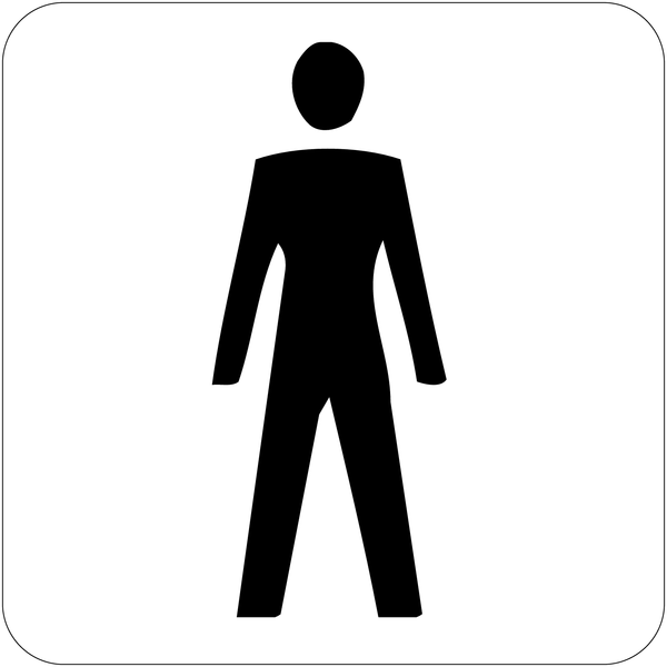 Signalisation d'information prestige Toilettes homme