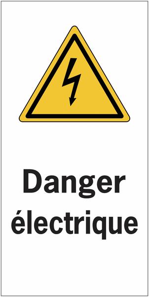 Etiquettes de sécurité en rouleau - Danger électrique