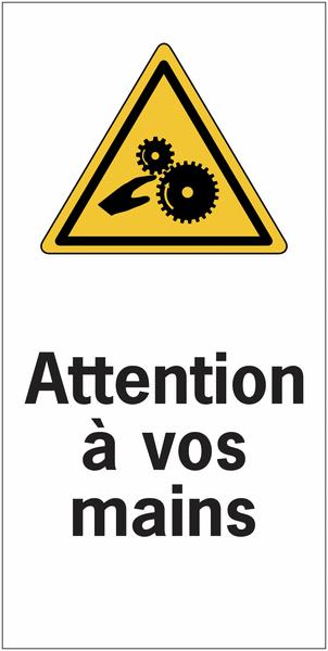 Etiquettes de sécurité en rouleau - Attention à vos mains