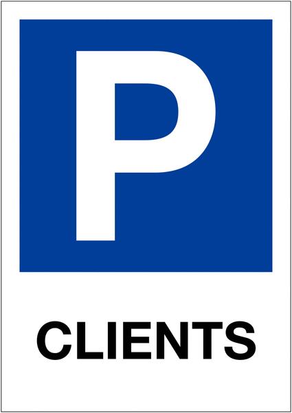 Etiquette pour balise Places de parking - Clients