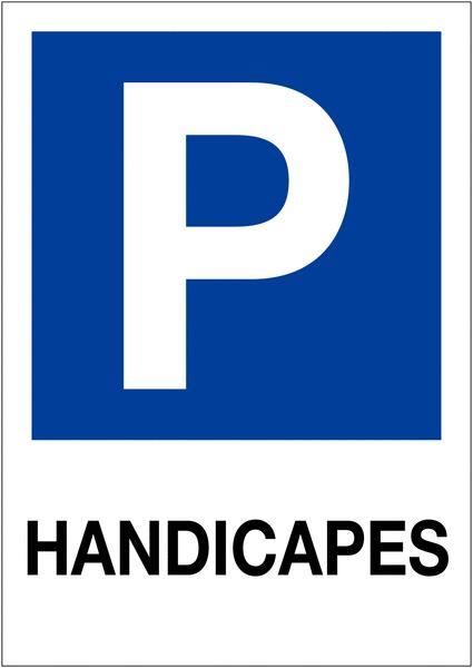 Etiquette pour balise Places de parking - Handicapés