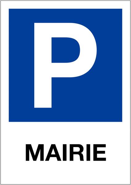 Etiquette pour balise Places de parking - Mairie