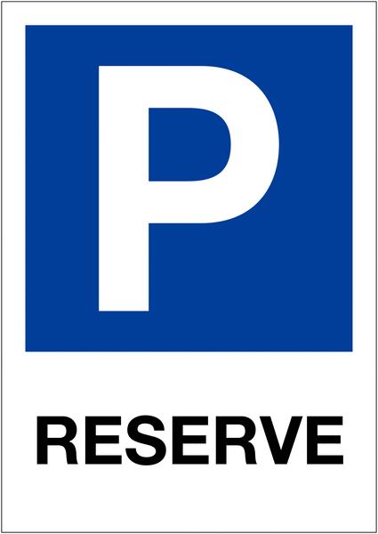 Etiquette pour balise Places de parking - Réservé