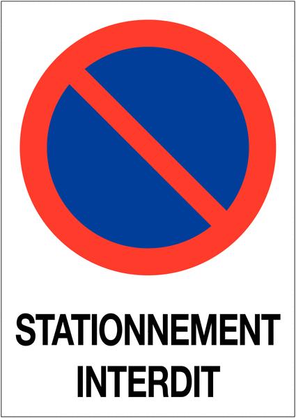 Etiquette pour balise Stationnement interdit