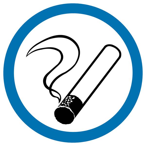 Mini autocollants d'information Autorisation de fumer