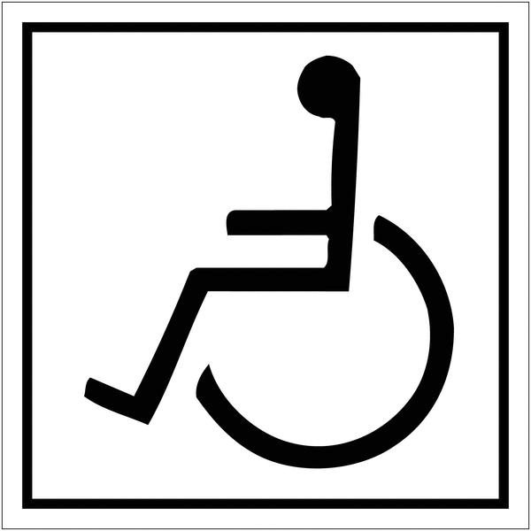 Signalétique avec profil aluminium Handicapés vers la gauche