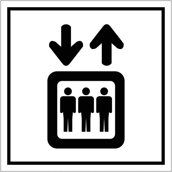 Signalétique avec profil aluminium Ascenseur
