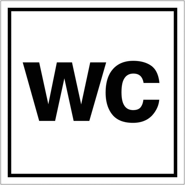 Signalétique avec profil aluminium Toilettes