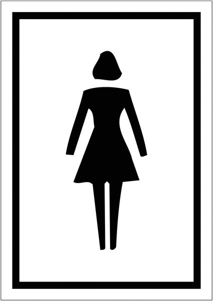 Signalétique avec profil aluminium Toilettes femme